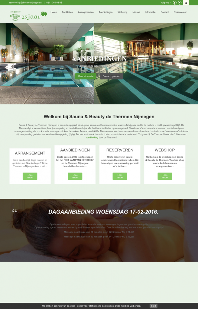 Website Sauna & Beautysalon De Thermen